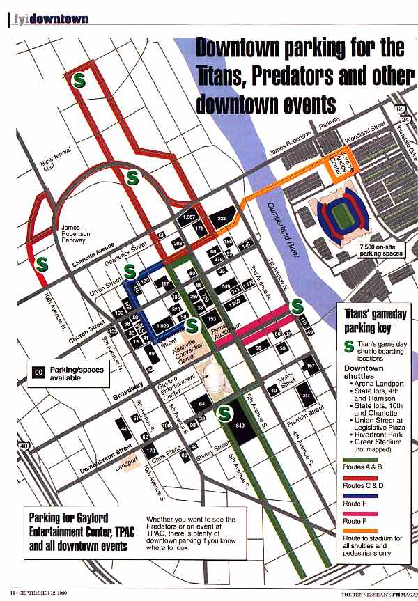Parking in Downtown Nashville – Nashville Tourist Map
