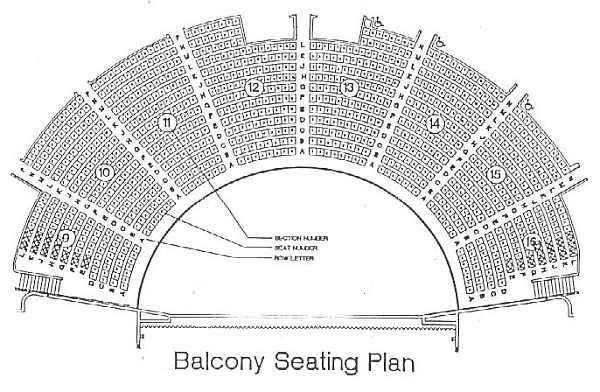 ryman seating chart: Ryman auditorium seating plan